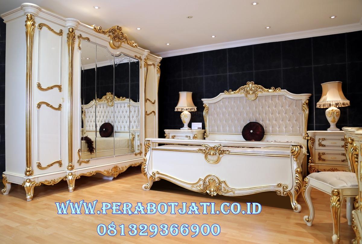 Set Kamar Tidur Mewah Dan Elegan Gold