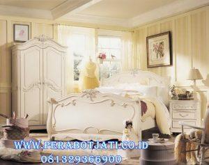 Set Tempat Tidur Anak Perempuan Klasik Putih