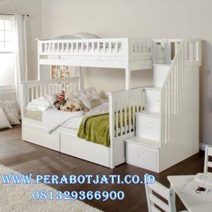 Tempat Tidur Anak Tingkat Warna Putih