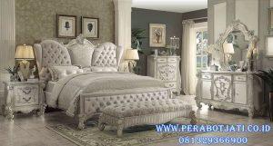 Tempat Tidur Klasik Modern Ukir Minimalis Liona