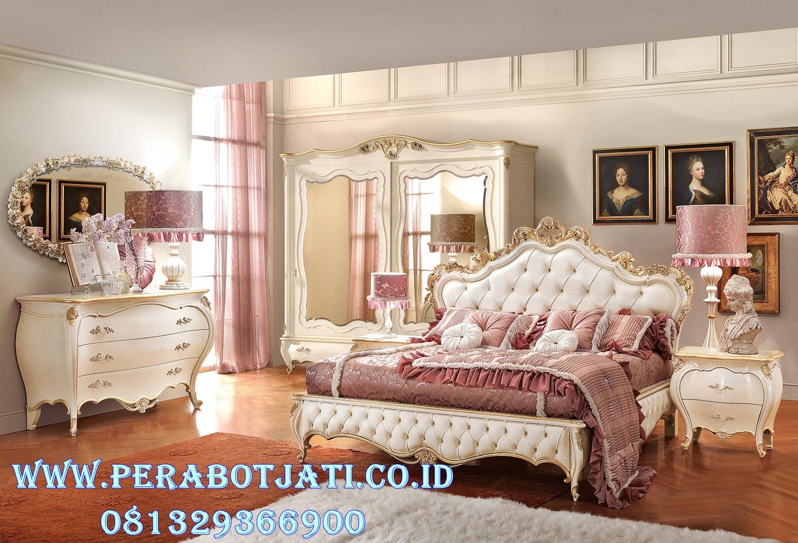 Kamar Tidur Ukir Putih Duco Model Syahrini
