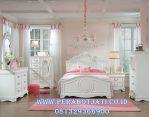 Set Kamar Tidur Anak Perempuan Putih Klasik
