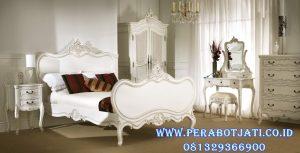 Set Tempat Tidur Anak Putih French Style
