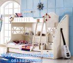 Tempat Tidur Tingkat Anak Laki Laki Putih
