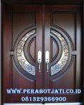 Daun Pintu Double Panel Kaca Klasik