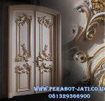 Kusen Pintu Rumah Mewah Ukir Gold Duco