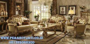 Kursi Sofa Tamu Ukir Klasik Eropa Gold