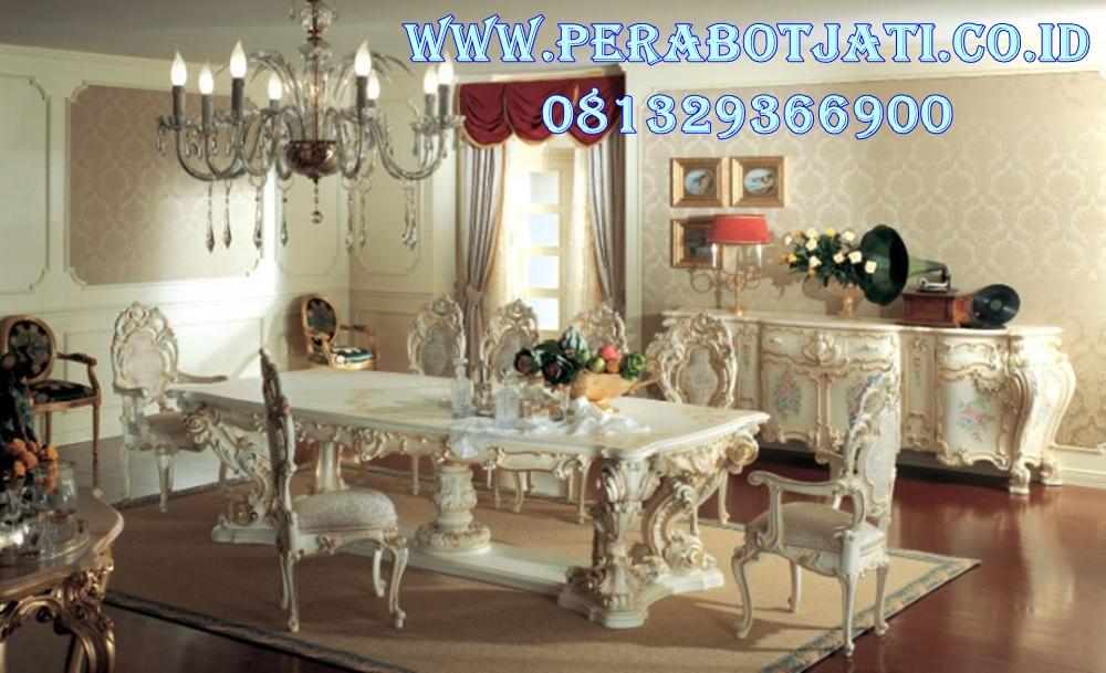 Meja Makan Klasik Putih Duco Minerva