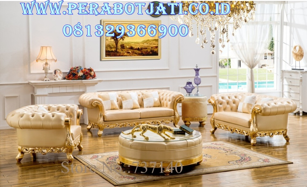 Set Kursi Sofa Modern Ukir Luxury
