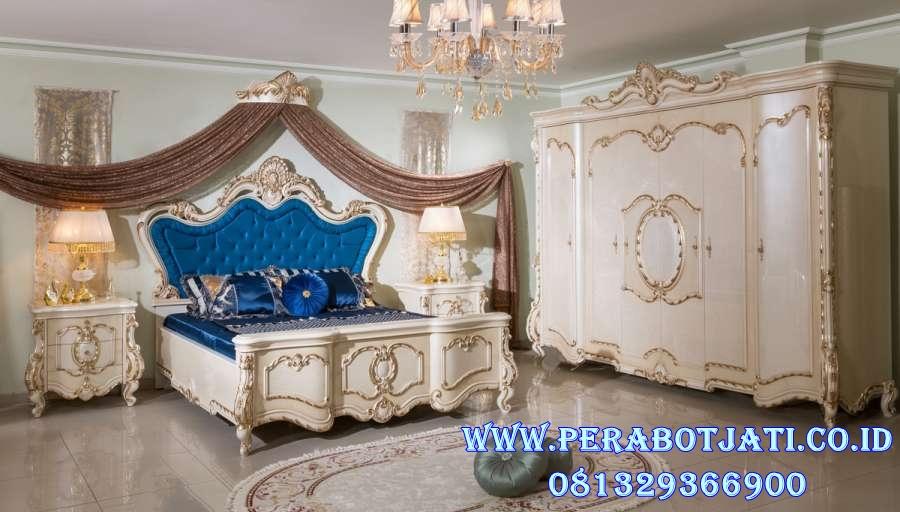 Set Tempat Tidur Ukir Mewah Duco Klasik