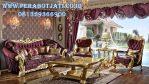Kursi Tamu Ukir Gold Desain Sofa Klasik Eropa
