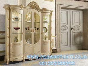 Lemari Hias Klasik Gold Minerva