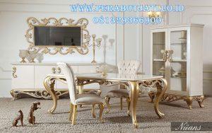 Set Meja Makan Putih Modern
