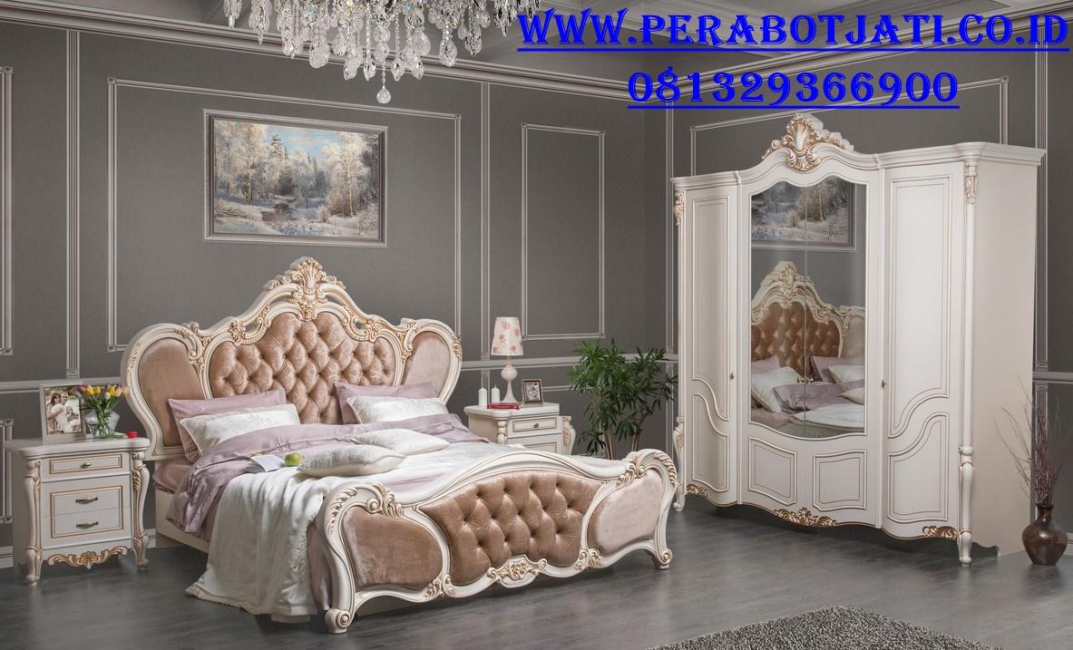 Furniture Tempat Tidur Mewah Emas Beatris Arida