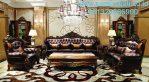 Kursi Sofa Kayu Jati Warna Natural Ruang Tamu Klasik