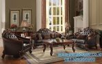 Set Kursi Sofa Ruang Tamu Jati Klasik Royal Crown