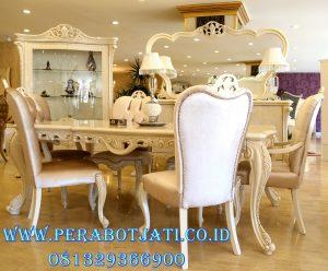 Set Meja Makan Duco Full Putih