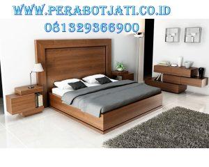 Set Tempat Tidur Kayu Jati Minimalis Mewah