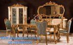 Set 6 Kursi Makan Gold Ukir Klasik Eropa Style