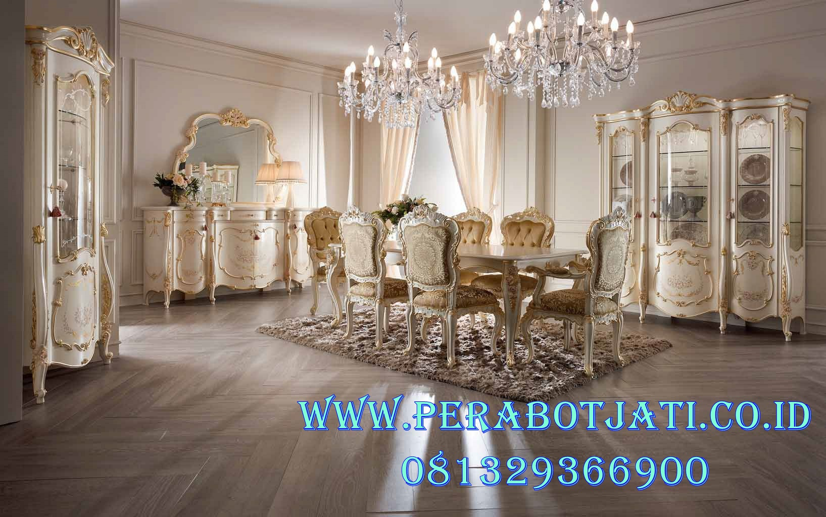 Set Kursi Makan Mewah Alexandra