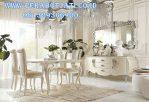 Meja Credenza Set Meja Makan Putih