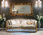 Kursi Sofa Single Klasik With Frame Ukir Gold