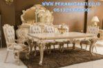 Desain 6 Kursi Makan Klasik Duco Model Meja Makan Ukir Mewah Ottoman