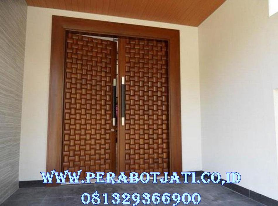 Jual Pintu Kusen Minimalis Ukir Anyaman Bambu