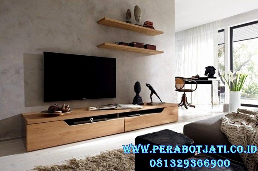 Meja Tv Pendek Minimalis Jati