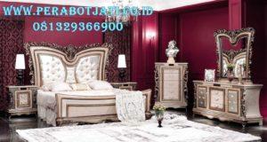 Set Kamar Tidur Klasik Gold Ukuran King Size