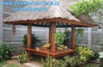 Gazebo Minimalis 2 x 2 Kayu Glugu Atap Sirap Alang – ALang Bali