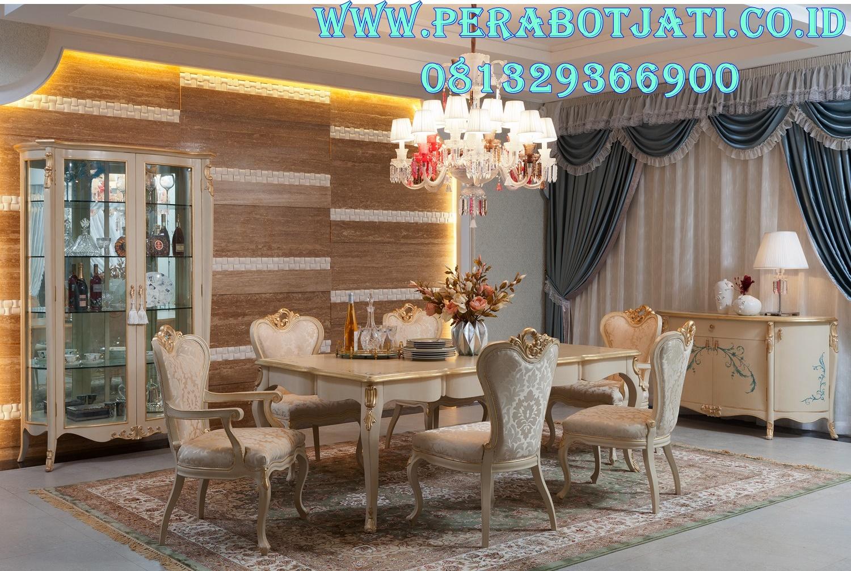 Set Ruang Makan Klasik Rococo