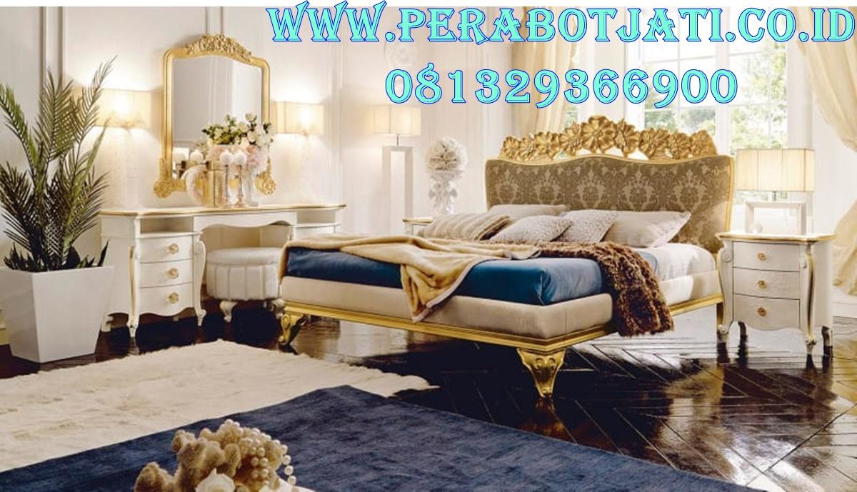 Ranjang Kamar Tidur Pengantin Gold Mawar