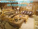 Kursi Sofa Ukir Mewah Gold Edition
