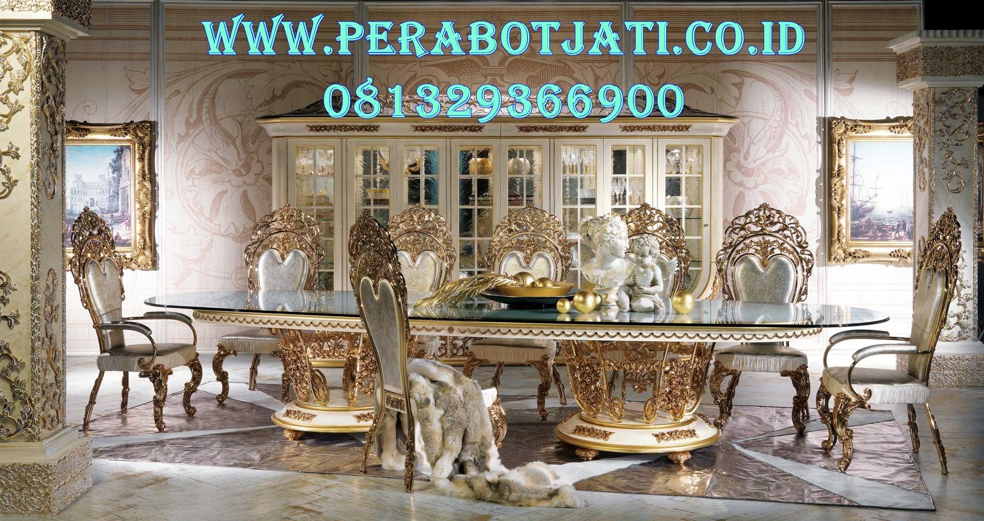 Set Meja Makan Elegan Eropa Mahkota