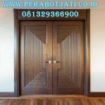 Jual Pintu Utama Jati Perhutani Model Klasik Modern