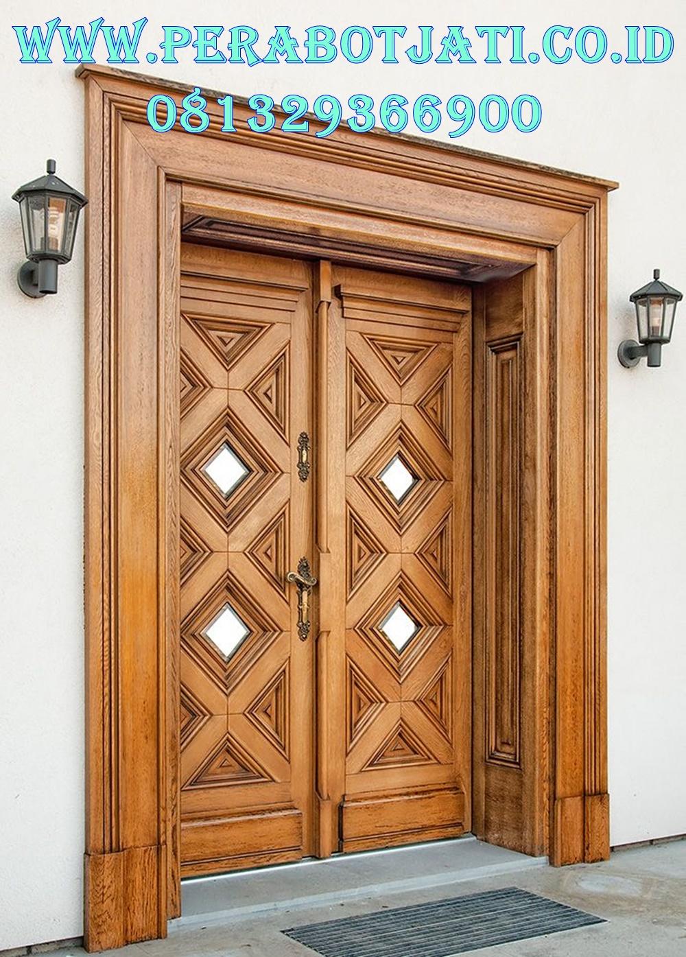 Model Kusen Pintu Jati Klasik Imperal