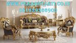 Set Kursi Tamu Sofa Elegan Warna Gold Hunza