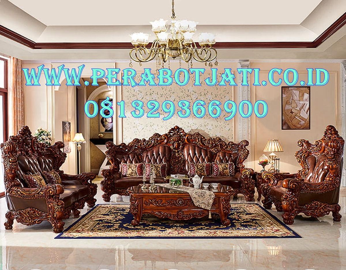 Best Seller Kursi Sofa Mewah Kayu Jati Ruang Tamu Klasik Modern