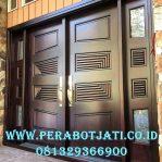 Daun Pintu Utama Mewah Kupu Kupu Panel Salur