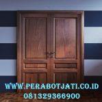Foto Daun Pintu Double Jati Untuk Kusen Rumah Minimalis