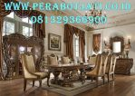 Zayn Luxury Meja Makan Klasik kayu Jati