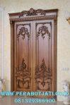 Model Pintu Utama klasik Ukir Jati Jepara