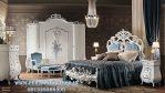 Set Tempat Tidur Pengantin Klasik Ukir Putih