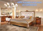 Set Tempat Tidur Mewah Klasik Natural Wood